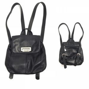 🎩 VTG 90s Easy Spirit Black Leather Backpack